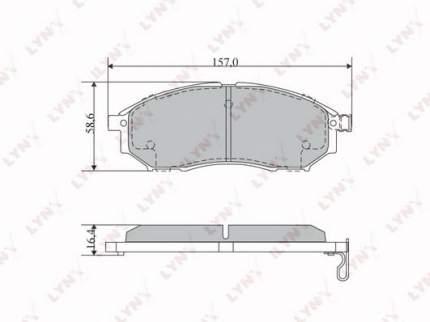 Комплект тормозных дисковых колодок LYNXauto BD-5725