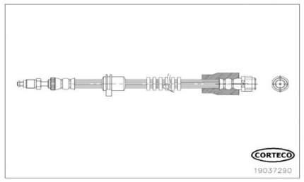 Шланг тормозной CORTECO 19037290