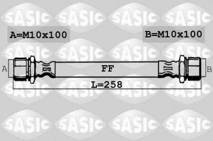 Шланг тормозной SASIC 6606204