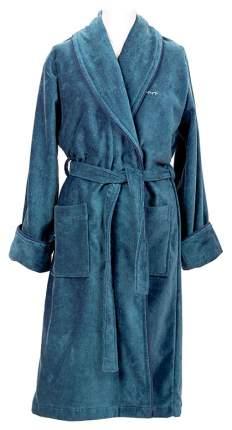 Халат Gant Home Premium Velour Robe 856002603 голубой XXL