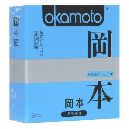 Презервативы Okamoto Skinless Skin Super Lubricative 3 шт.