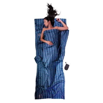 Вкладыш в спальник Cocoon Seide TravelSheet синий