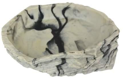 Кормушка-поилка для рептилий LUCKY REPTILE Granite, серая, 11 х 8 х 2,5 см