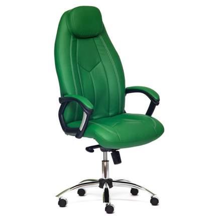 Кресло руководителя TetChair Boss Люкс, зеленый/хром