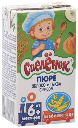 Готовый обед Спеленок Спелёнок Яблоко с тыквой и рисом с 6 мес. 125 г