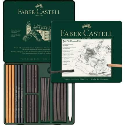 Faber Castell Набор чернографитовых карандашей PITT Monochrome Graphite 24 предмета