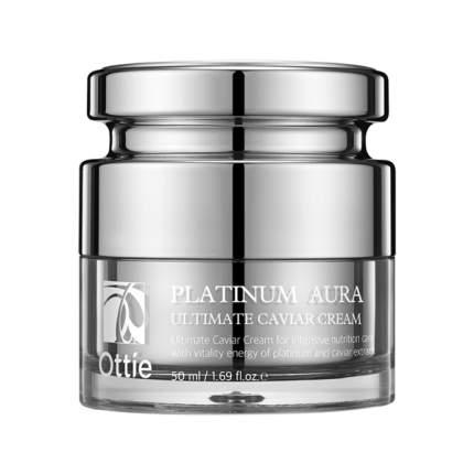 Крем для лица с экстрактом черной икры Ottie Platinum Aura Ultimate Caviar Cream