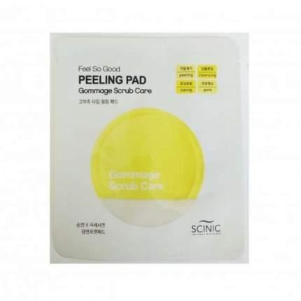 Очищающая салфетка Scinic Feel So Good Peeling Pad (Gommage Scrub Care)