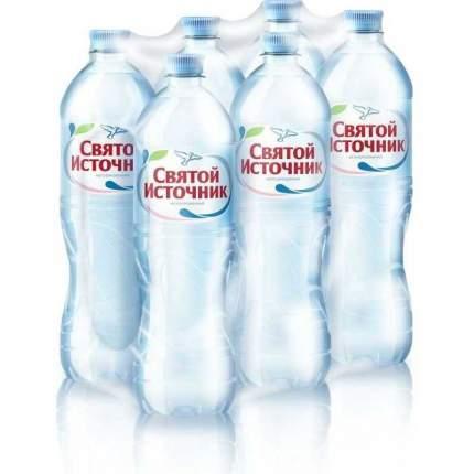 Минеральная вода Святой Источник негазированная 1 л упаковка 6 шт