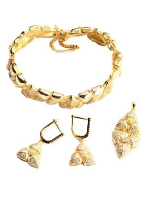 Комплект украшений бижутерия Bradex Золото Богов