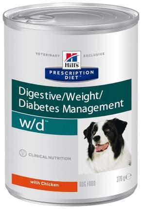 Консервы для собак Hill's Prescription Diet Digestive/Weight Management w/d, 370г