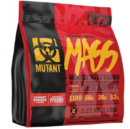 Гейнер Mutant Mass, 2270 г, strawberry banana