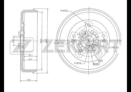 Тормозной барабан ZEKKERT BS-5448