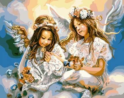 Картина по номерам Paintboy Подарок от ангела, 40x50 см