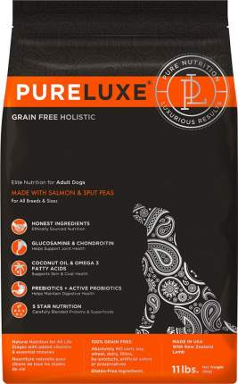 Сухой корм для собак PureLuxe GF Holistic Для городских питомцев, лосось, 1.81кг