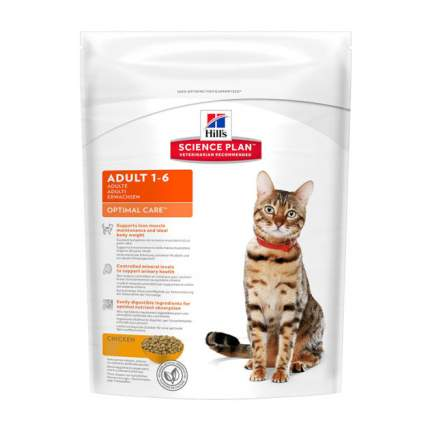 Сухой корм для кошек Hill's Science Plan Optimal Care, курица, 0,4кг
