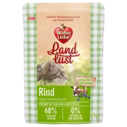 """Влажный корм для кошекWahre Liebe """"Landlust """"Rind"""" с говядиной, 85г"""