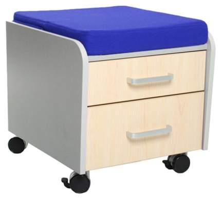 Тумбочка Comf-Pro BD-C2 (цвет обивки: синий, цвет каркаса: серый, цвет товара: клен)