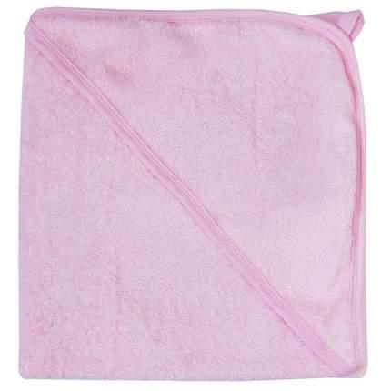 Полотенце Папитто для купания с уголком 100х100 Розовый