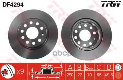 Тормозной диск TRW/Lucas DF4294 передний