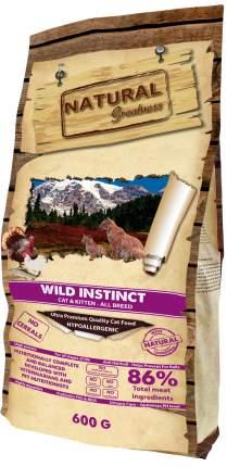 Сухой корм для кошек и котят Natural Greatness Wild Instinct, индейка, 6кг