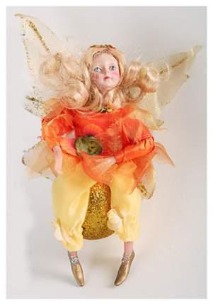 Мягкая игрушка Snowmen Новогодняя фея на блестящем шаре 16 см Е80167-1