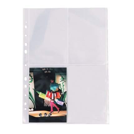 Карман с перфорацией А4 для фотографий 80 мкр. 10х15 см 10шт/уп Esselte ES-78001