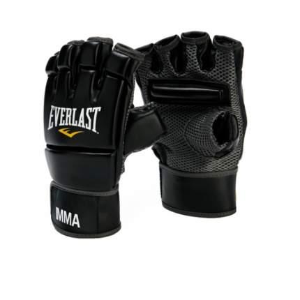 Боксерские перчатки Everlast MMA Kickboxing черные 6 унций