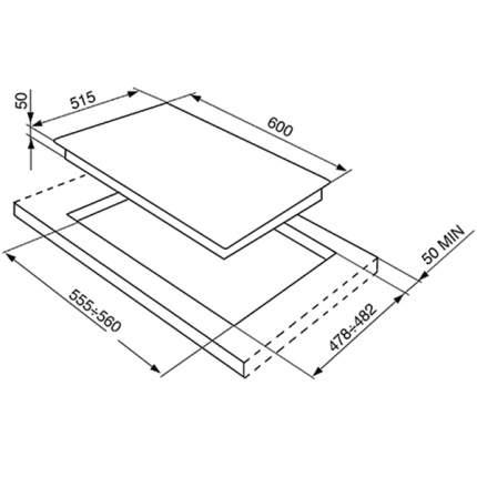 Встраиваемая варочная панель индукционная Smeg SI641ID2 Black
