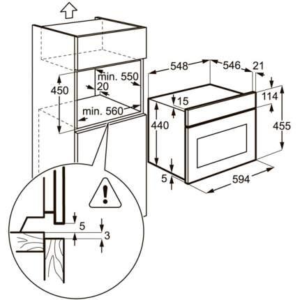 Встраиваемый электрический духовой шкаф Electrolux EVY97800AX Silver