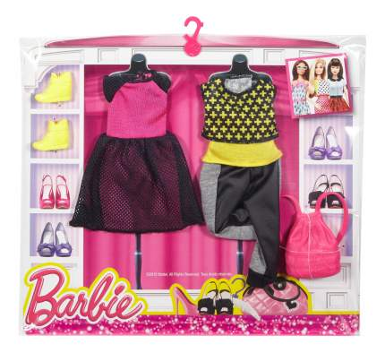 Набор модной одежды Barbie CFY06 DPX70 Black, Pink & Yellow
