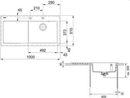 Мойка для кухни керамическая Franke MTK 611-100 1240335857 графит