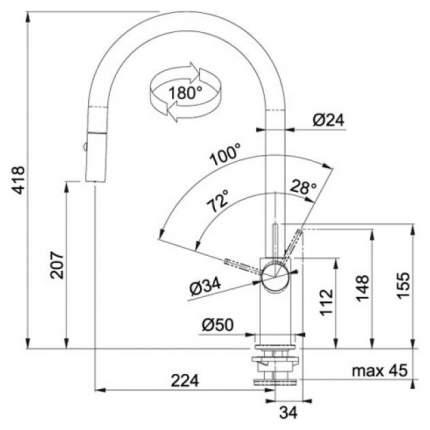 Смеситель для кухонной мойки Franke Ambient 115.0296.781 графит