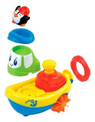 Заводная игрушка для ванны Кораблик - Пингвин Happy Kid Toy 4326