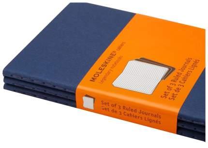 Набор 3 блокнота Moleskine Cahier Journal Large, цвет синий индиго, в линейку
