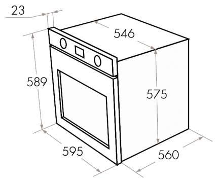 Встраиваемый электрический духовой шкаф MAUNFELD MEOH.6711WS White