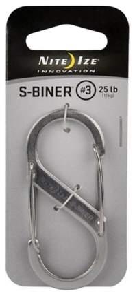 Карабин из нержавеющей стали Nite Ize S-Biner #3 SB3-03-11