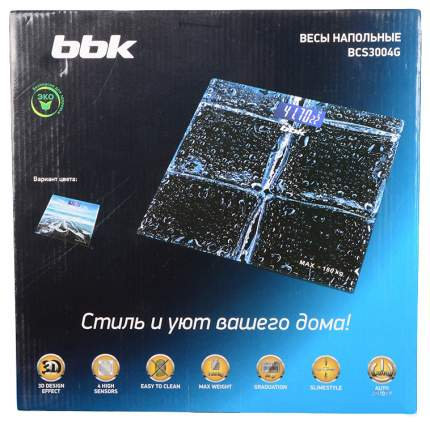 Весы напольные BBK BCS3004G Black