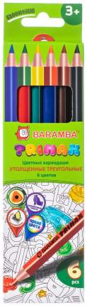 Карандаши цветные BARAMBA 6 цветов