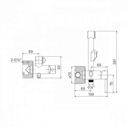 Смеситель для встраиваемой системы IDDIS 003SBR0i08