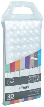 Шторка для ванной FIXSEN FX-3003E, прозрачная, этиленвинилацетат/полипропилен, 3003E
