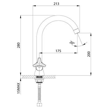 Смеситель для кухонной мойки Rossinka RS41-72U
