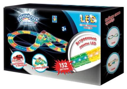 "Гибкий трек LED ""Мост"" со светодиодными лампами, 152 детали 1TOY"