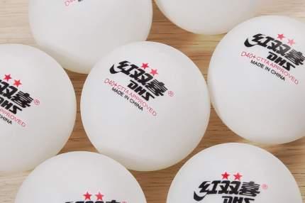 Мяч для настольного тенниса DHS 2** 10 шт., белый