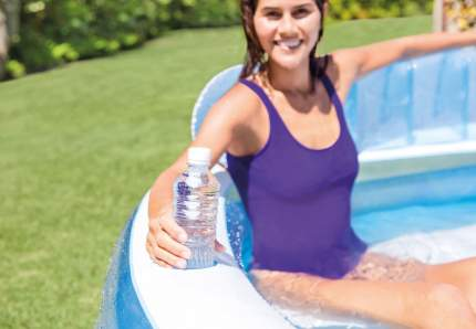 Надувной бассейн INTEX Swim Center,Family Lounge 224х216х76 см 57190