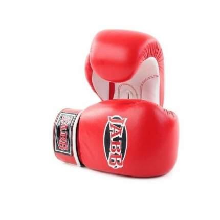 Боксерские перчатки Jabb JE-2014 белые/красные 10 унций