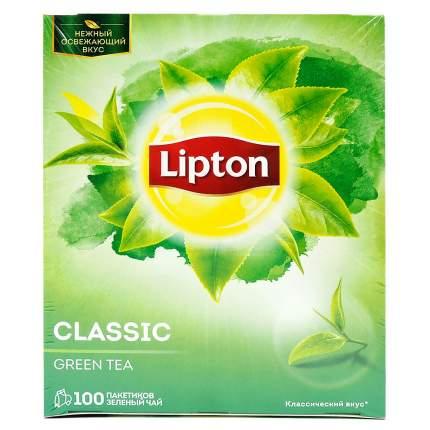 Чай зеленый Lipton green tea classic 100 пакетиков