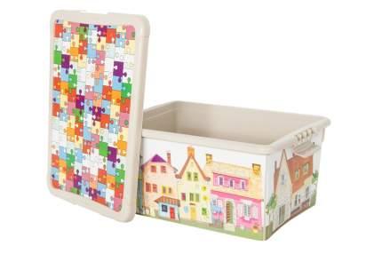 """Ящик для хранения игрушек Бытпласт """"Город"""" бежевый"""