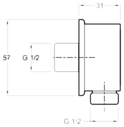 Подключение для душевого шланга Jacob Delafon E75142-CP