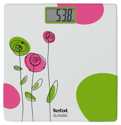 Весы напольные Tefal Drawing Bloom PP1113 Белый, зеленый, розовый